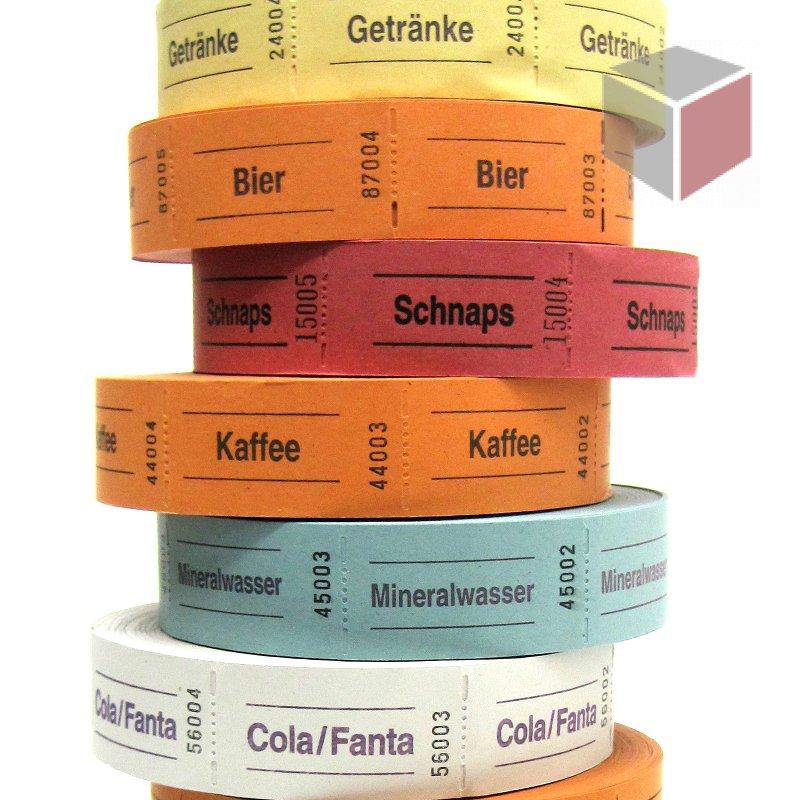 Biermarken / Getränkemarken auf der Rolle, 1000 Abrisse, 4,49 &e