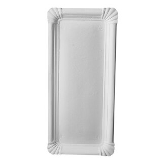 1000 Teller, Pappe pure eckig 11 cm x 24 cm weiss